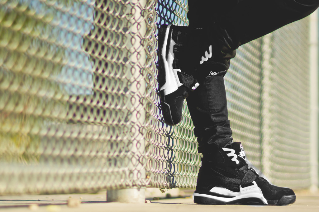 Ewing Athletics Concept Black White On Feet-4