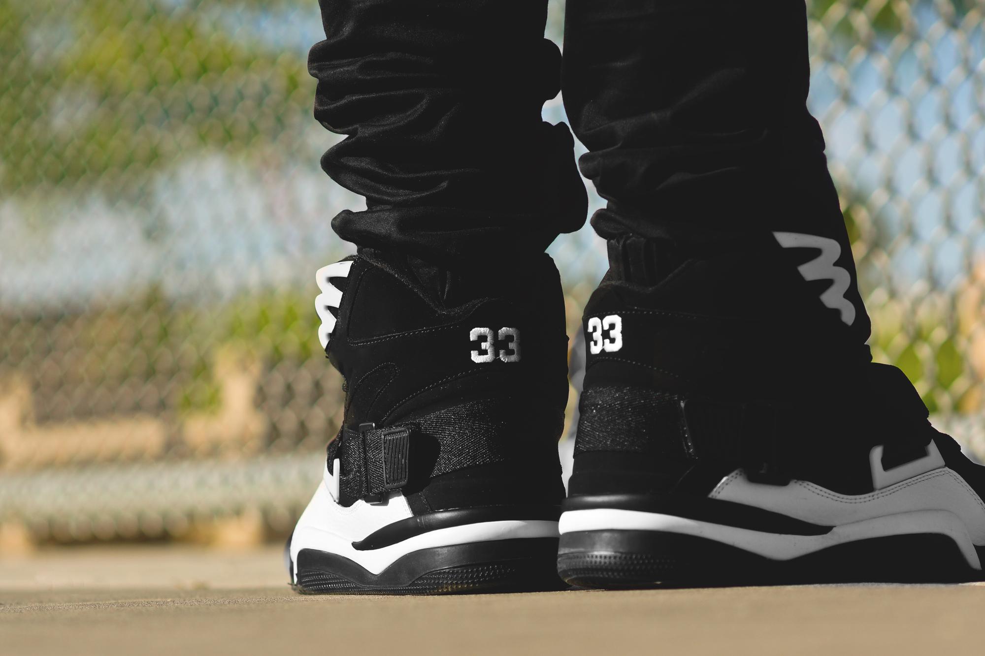 sports shoes c17d0 c17f8 Ewing Athletics Concept Black White On Feet .