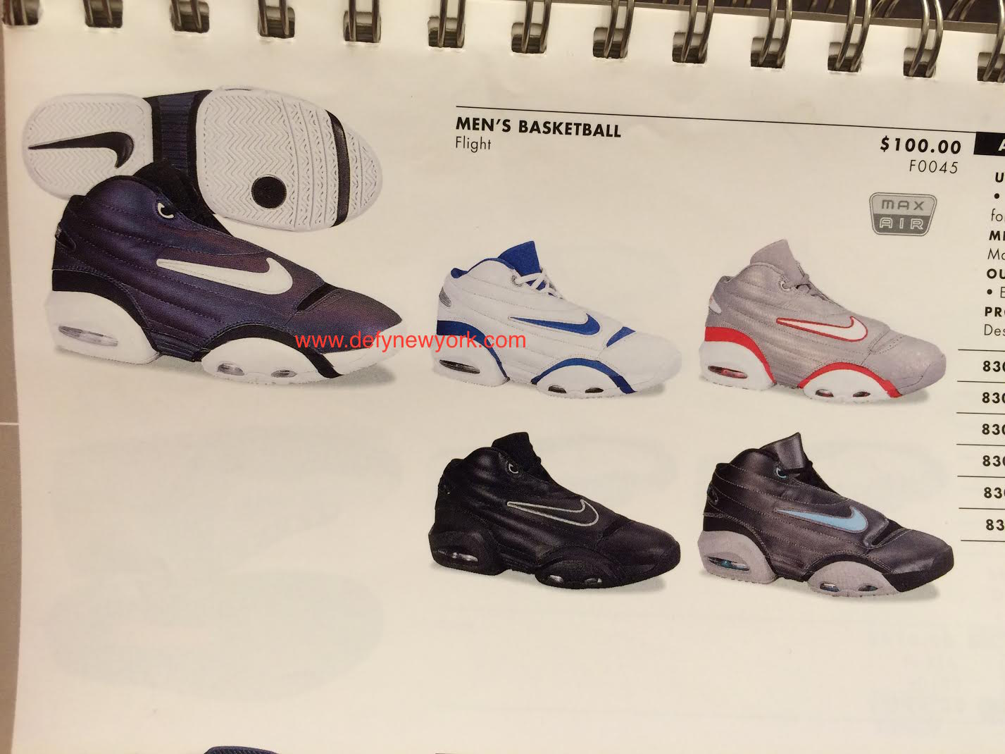 01401c8b61ff5e Nike Air Flight Persistence Basketball Shoe 2000   DeFY. New York ...