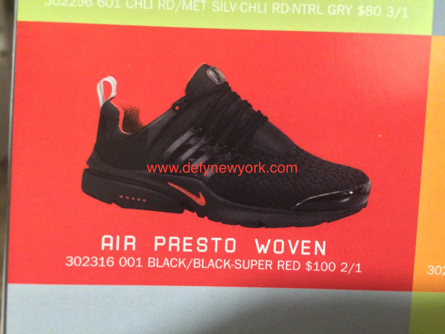 reasonably priced new cheap look good shoes sale Nike Air Presto Woven Black Red 2002 – DeFY. New York ...