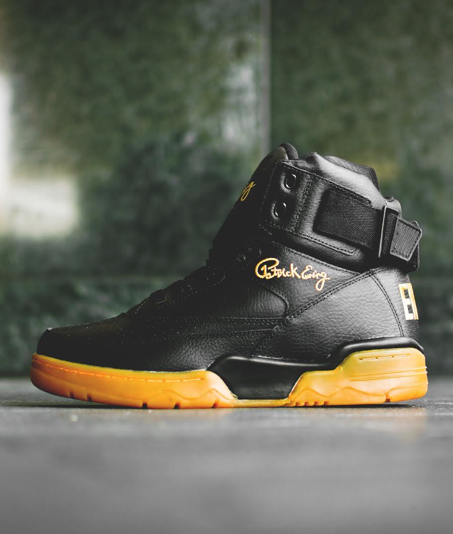 Ewing 33 Hi Black Gum Gold 2015   DeFY. New York-Sneakers 89f7430e6546