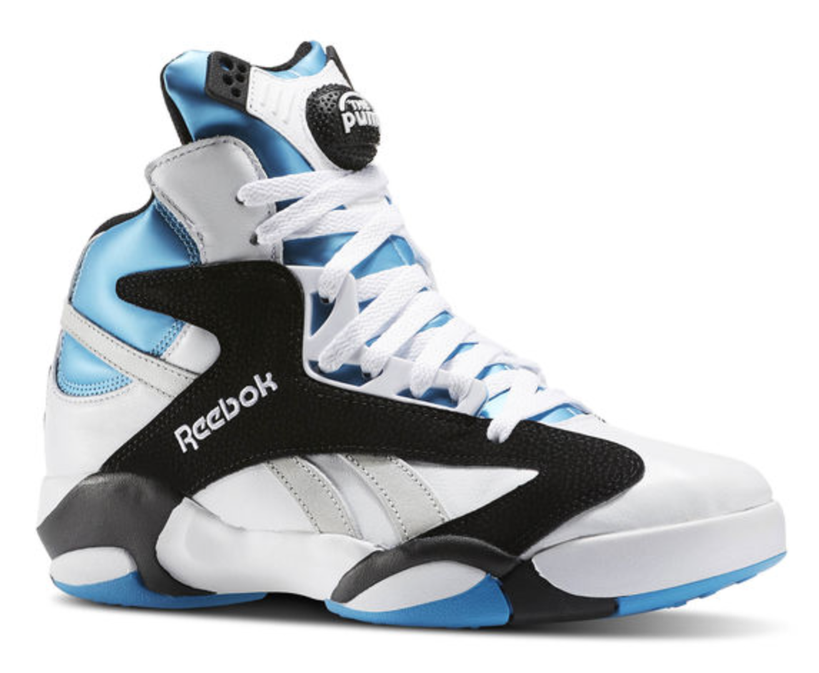 big sale 062fb 017f4 Reebok   Shaq s iconic basketball shoe the Shaq Attaq – or internally known  as the squatting poodles- was back again for only the second time in 24  years ...