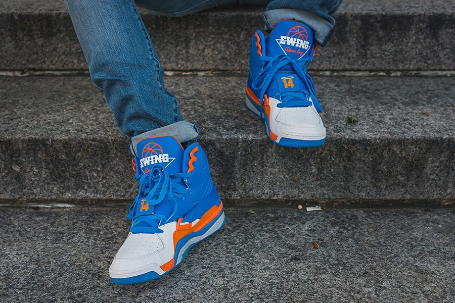 Anthony Mason Jr teamed up with Ewing Athletic s for a special PE dedicated  to the memory of his father -former New York Knick and team mate to Patrick  ... f20cce34f