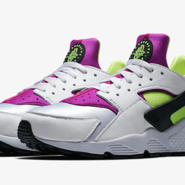 """affa8b2ffb9f Nike Brings Back The Voltage Purple Hot Lime """"Magenta"""" Huarache Runner For  The First Time Ever."""