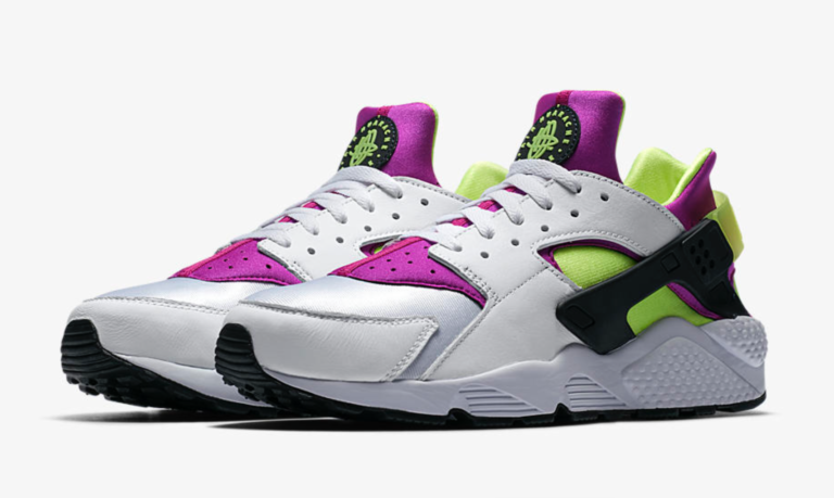 """c070391e1ad78 Nike Brings Back The Voltage Purple Hot Lime """"Magenta"""" Huarache Runner For  The First Time Ever."""