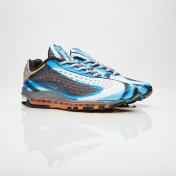 5a745dd9e07f One Of 2018 s Biggest Drops In The Nike Air Max Deluxe Photo Blue Wolf  Grey-Orange Retro Is Almost Here