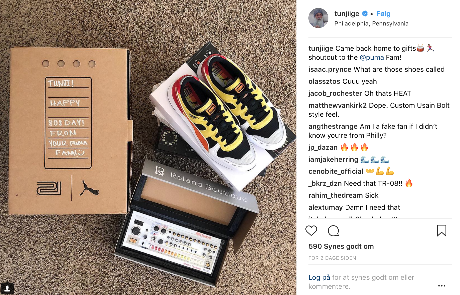 PUMA & Roland Celebrate 808 Day 2018 With Special RS RS 100 & RS RS 0 scarpe   b23b39
