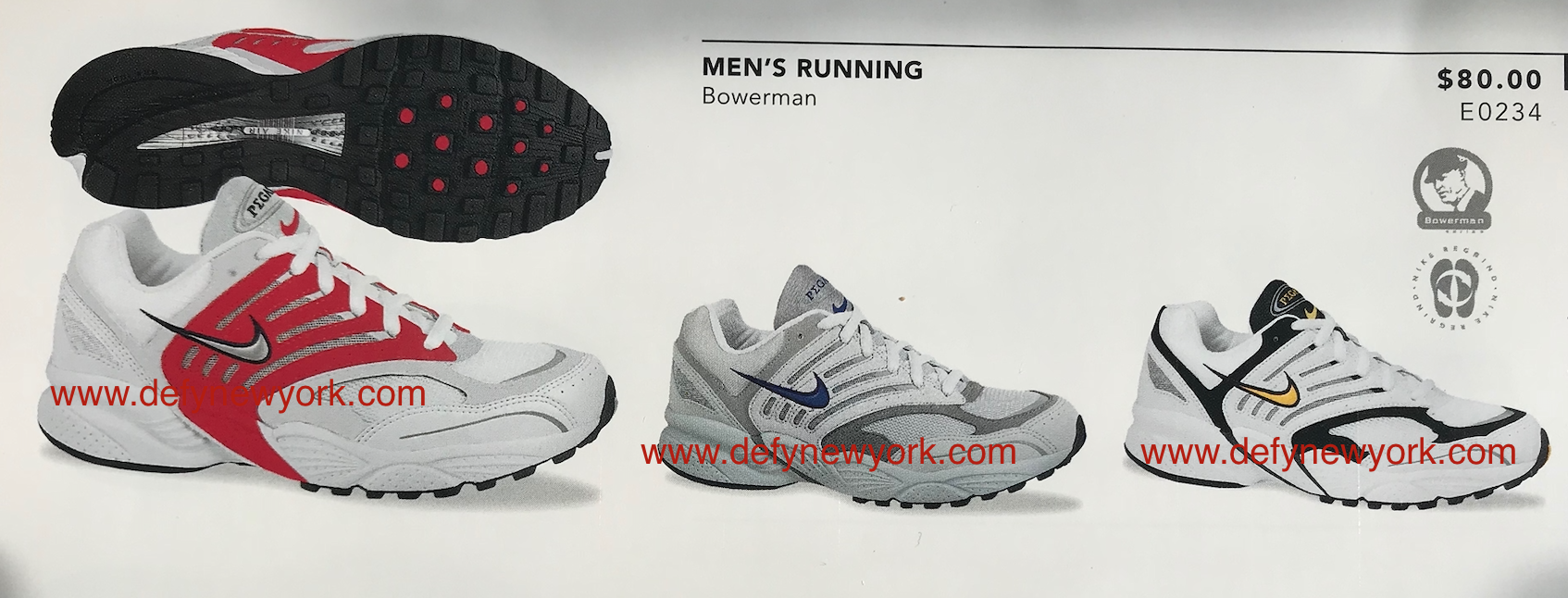 c377748b11e9b3 ... 1000 outsole with forefoot Waffle Fill outsole and center of pressure  heel. Size range was 6-15 and were part of they were part of the Bowerman  series.